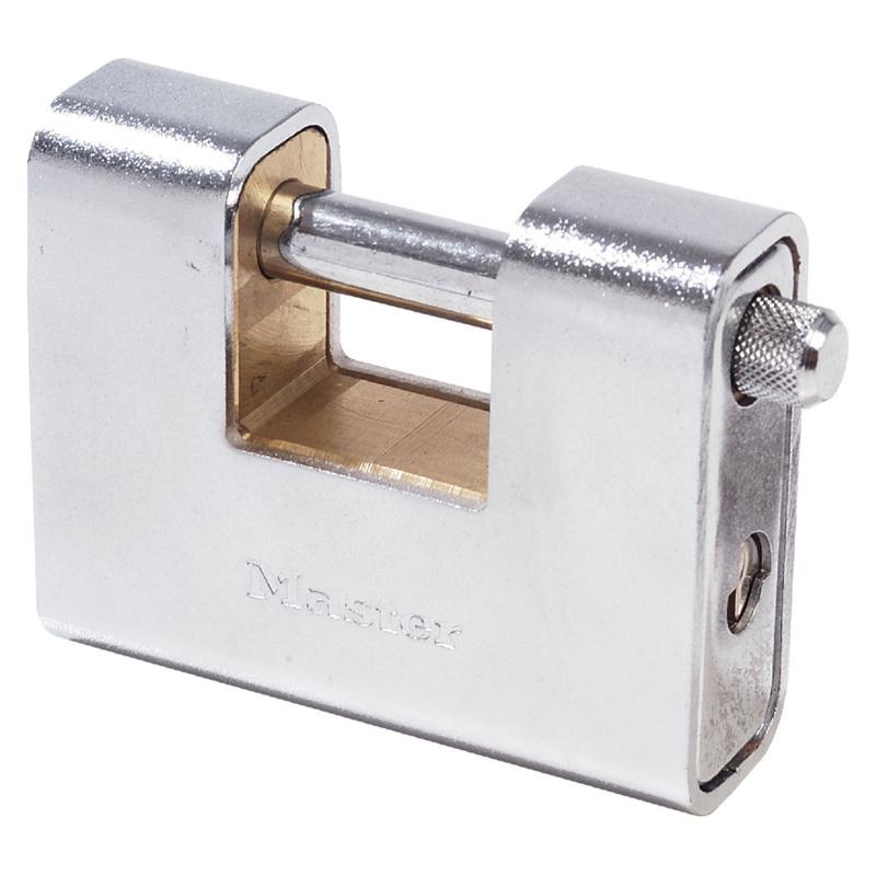masterlock 690 rectangular zinc body padlock w key choice