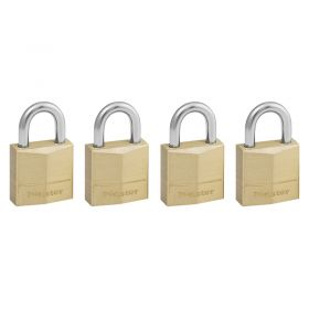 Masterlock 120EURQNOP Brass Padlock w/ Hardened Steel Shackle (4x)