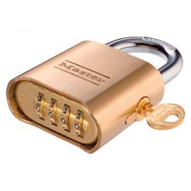 Masterlock 176 Brass Combination Padlock - Master Keyed
