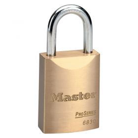 Masterlock 6830 Brass Pro Series Padlock w/ Key Choice
