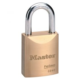 Masterlock 6840 Brass Pro Series Padlock w/ Key Choice