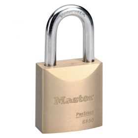 Masterlock 6850 Brass Pro Series Padlock w/ Key Choice