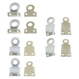 Bolt or Rivetable Padlock Eye Combo Pack