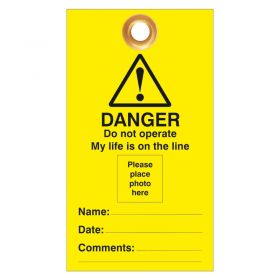 Danger Do Not Operate My Life Photo ID Pack of 10