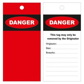 Danger This Tag Must Only Be Used By Black Red Yellow Pack of 10