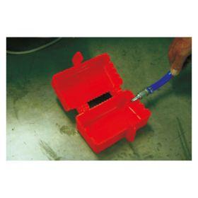 Large Electrical Plug Lockout Box 2 Plugs 1