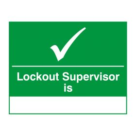 Lockout Supervisor Is Green and White