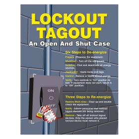 Lockout Tagout Poster An open and Shut Case