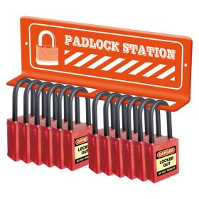 Mini Lockout Tagout lock Station Wall Mounted For 12 Locks