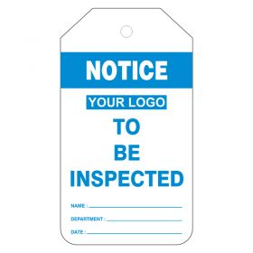 Notice To Be Inspected with Company Logo Pack of 200 Blue 1