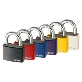 ABUS T65AL Vinyl Coated Aluminium mylock Padlock - All Colours