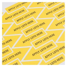 Apply Loto Here Adhesive Label Pack of 40