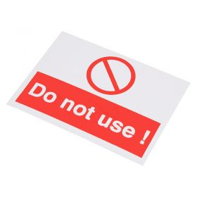 Do Not Use Self Adhesive Label 55mm 75mm 10