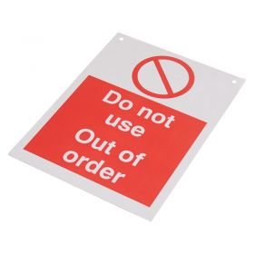 Do Not Use Out of Order 200mm 150mm