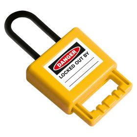 Non-Conductive Group Lockout Hasp (6mm) -Yellow