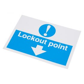 Lockout Point Self Adhesive Label 55 75mm 10