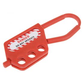 Non Conductive Nylon Hasp 3 Holes 6 mm Shackle Thickness 45 mm