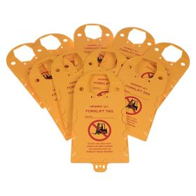 Forklift Do Not Use Tag Holder Pack of 10