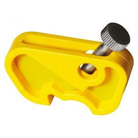 Yellow Siemens Miniature Circuit Breaker Lockout with Twisting Screw
