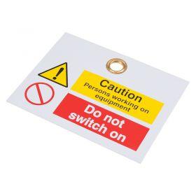 Reinforced PVC Caution Tag