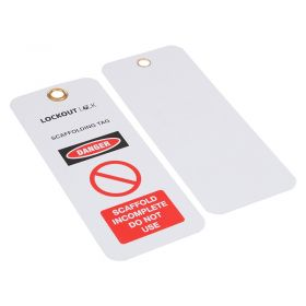 Incomplete Do Not Use Scaff Tag Scaffolding Tag Set of 10