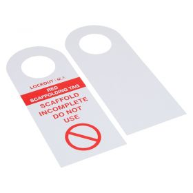Red Scaff Tag Scaffolding Tag Set of 10