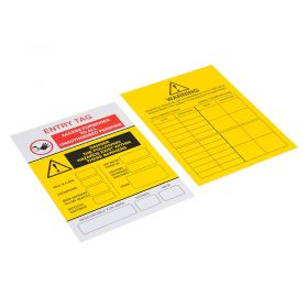 Confined Space Entry Tag Type 2 Pack of 10