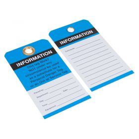Information This Tag Must Not Blue Pack of 10