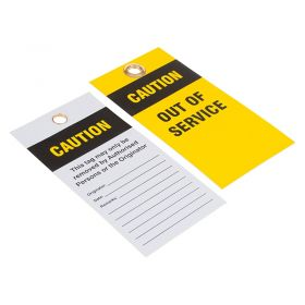 Caution Out of Service Must not be Used Yellow Black Pack of 10
