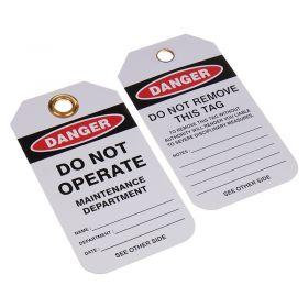 Danger Do Not Operate Maintenance Dept Pack of 10