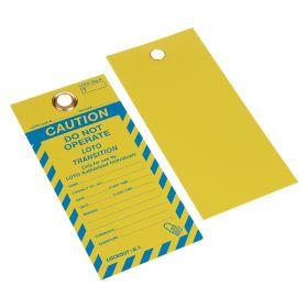 Do Not Operate Loto Transition Tag Yellow Blue Pack of 10