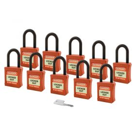 Fully Insulated Nylon Padlock - Key Alike
