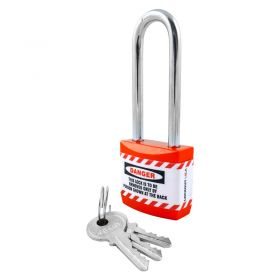 Long Shackle Jacket Padlock - Key Different
