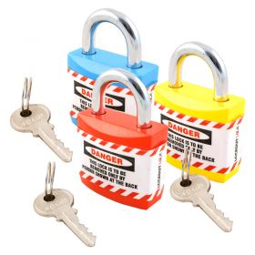 Jacket Lockout Lock with Regular Shackle Set of 3