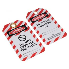 Do Not Operate the Valve Tag Pack of 10