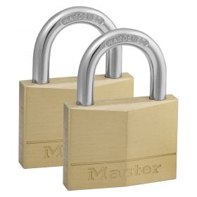 Masterlock 140 Brass Padlock w/ Choice of Pack Size