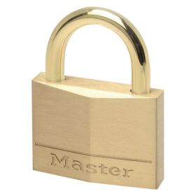 Masterlock 645EURD Brass padlock w/ Brass Shackle - Keyed Different
