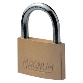 Masterlock CAD50 Magnum Brass Padlock w/ Steel Shackle - 50mm
