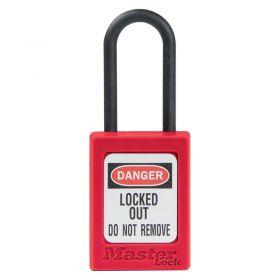 Masterlock S32 Nylon Shackle Zenex Padlock - Red