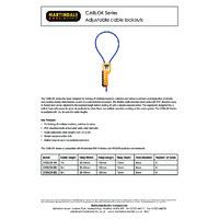 Martindale CABLOKXBL Adjustable Cable Lockout - Datasheet